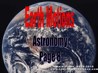 Earth Motions - Learn Earth Science