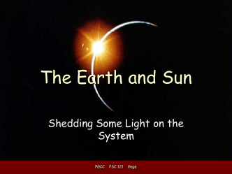 The Earth and Sun