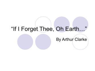 """If I Forget Thee, Oh Earth…"""