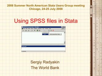 Using SPSS files in Stata