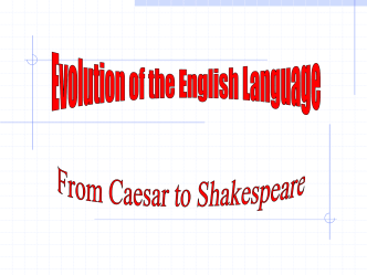 File evolution of english language