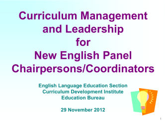 Curriculum Management and Leadership (Re
