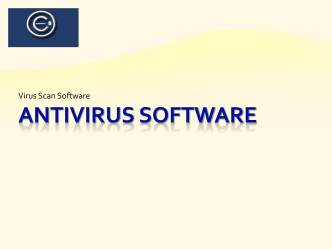 Antivirus Software - Online Education Solutions