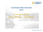 CONTRACTOR SITE INDUCTION