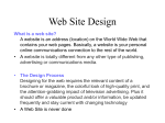 Web Site Design Planning a WebSite