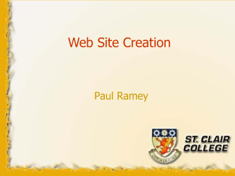 Web Site Design - St. Clair College