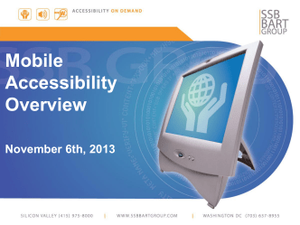 AHG Mobile Accessibility Overview FINAL
