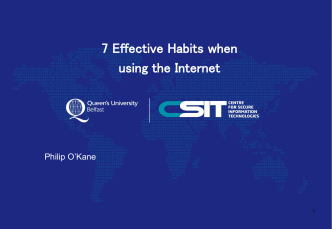 7 Effective Habits when using the Internet