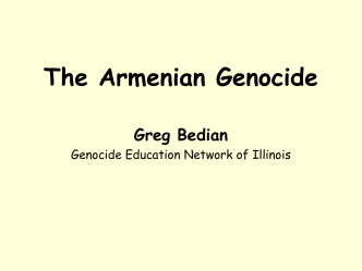 Armenian Genocide - Hinsdale Central High School