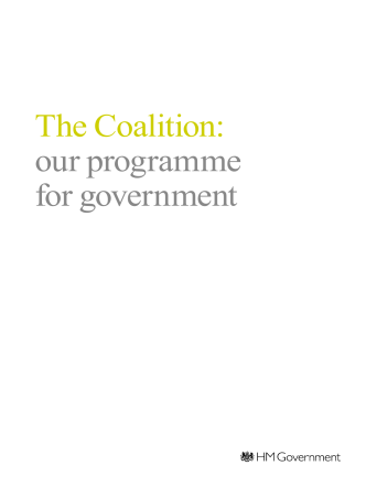 The Coalition: our programme for government