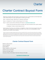 charter contract buyout form