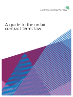 A guide to the unfair contract terms law