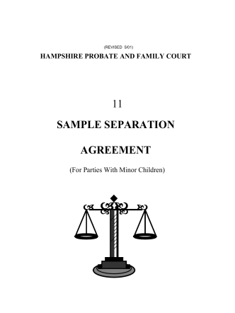 Sample Separation Agreement - Hampshire County Probate and