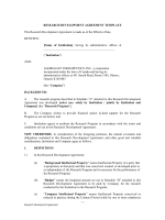 RESEARCH DEVELOPMENT AGREEMENT TEMPLATE This