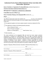 IRB Authorization Agreement Template