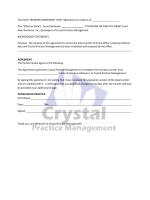 Data Transfer Agreement - Crystal Practice Management