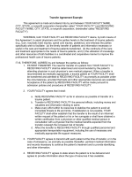 Transfer Agreement Example - Minnesota Department of Health