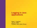 Logging - July 2002 - Portland Java Users Group
