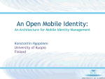 An Architecture for Mobile Identity Management