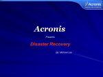 Acronis Corporate Profile