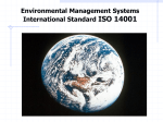 Environmental Management Systems International Standard ISO