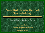 Waste Reduction in the Food Service Industry