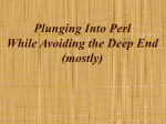 Plunging Into Perl