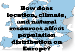 Europe Location Climate and Natural Resources