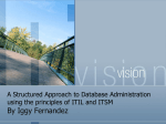 A Structured Approach to Database Administration using