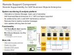 RSC Overview Slide - SAP Support Portal