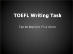 TOEFL Writing Task