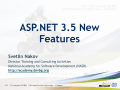 ASP.NET 3.5 – New Features @ MS DevDays 2008