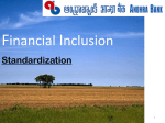 Financial Inclusion Standardization