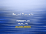 PowerPoint Presentation - Record Contracts