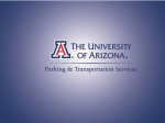 Overview of PTS - UA Parking and Transportation Services