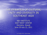 the dynamics of cultural unity and diversity in - East