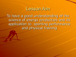 Energy Pathways, Training Theory and Recovery