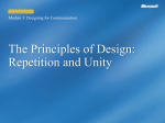 The Principles of Design: Repetition and Unity