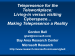 Telepresence: Near-term