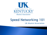 Alumni Career Services Speed Networking 101