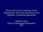 Family Life Course Transitions, Social Reproduction across the