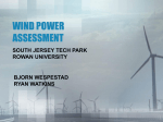 Wind Power Assessment: South Jersey Tech Park
