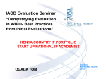 KENYA COUNTRY IP PORTFOLIO START UP NATIONAL IP