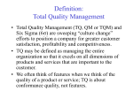 Definition: Total Quality Management