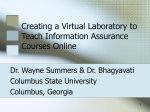 Creating a Virtual Laboratory to Teach Information Assurance