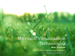 Microsoft Virtualization Overview