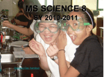 MS SCIENCE 8 SY 2009-2010