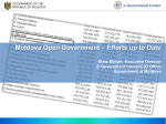 e-Government Center Moldova Open Government – Efforts up to