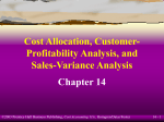 Cost Allocation, Customer-Profitability Analysis, and Sales