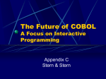 The Future of COBOL A Focus on Interactive Programming